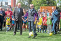 Denis Law officially opened the facility.