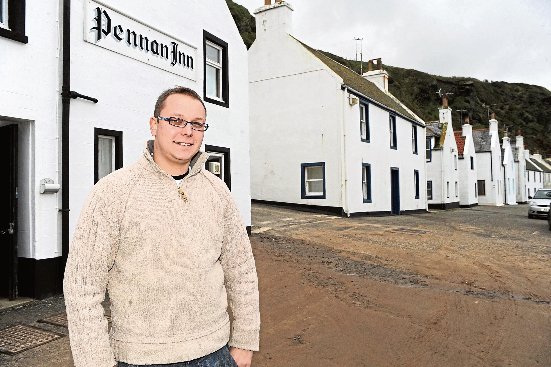 Pennan Inn landlord, Peter Simpson