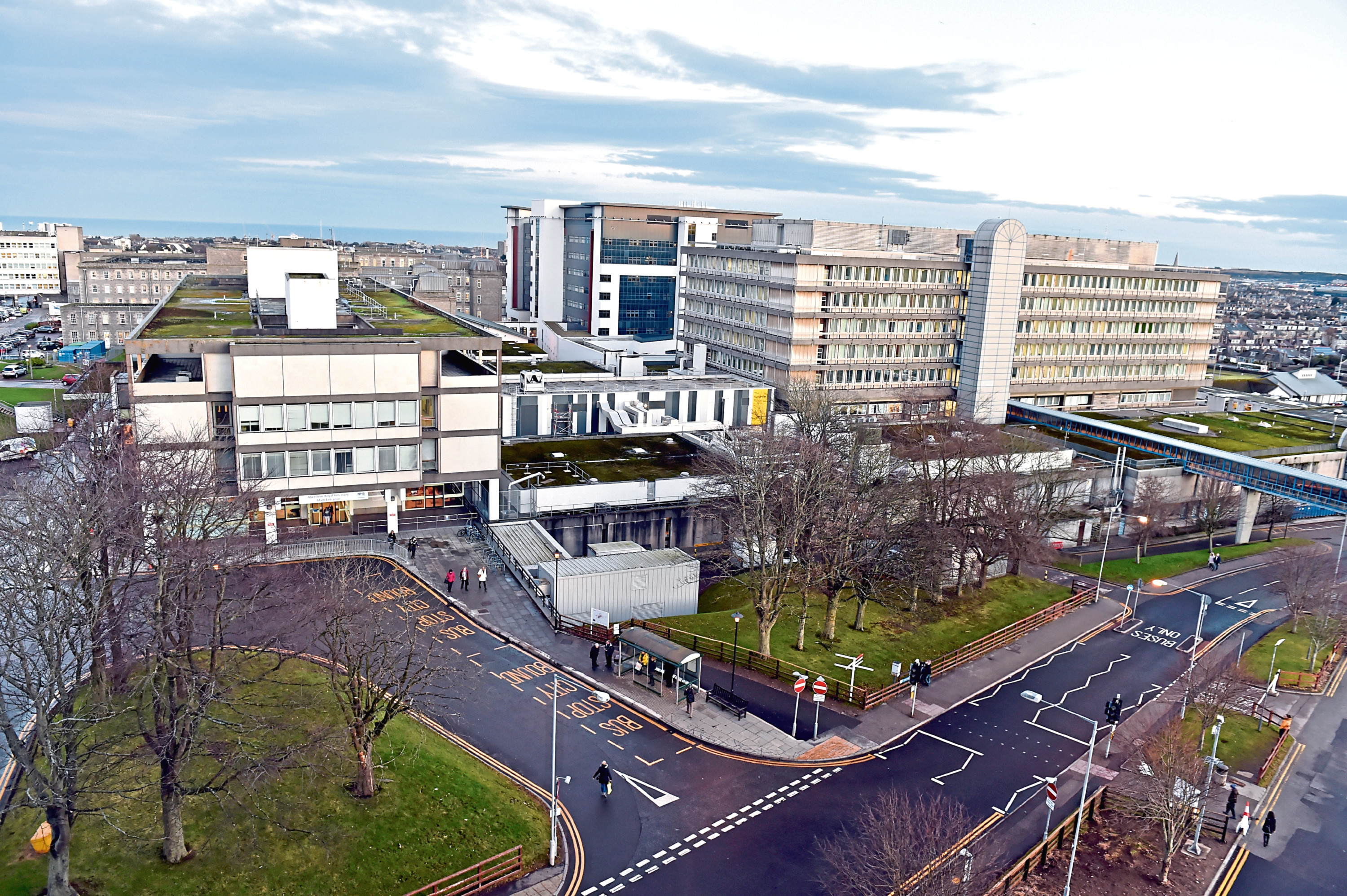 A view of Aberdeen Royal Infirmary.