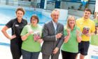Phionna McInnes, second right, with Keith Gerrard, centre, and leisure staff a the launch of their the bands