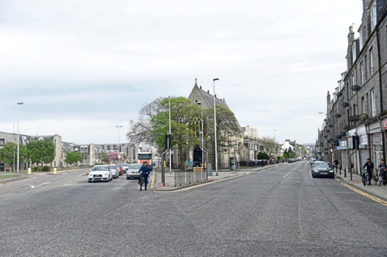 The alleged attack took place between George Street and Powis Place in Aberdeen