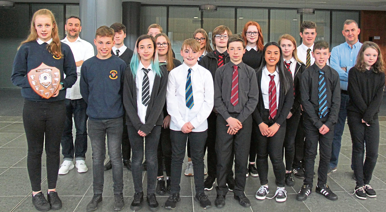 Pupils from Meldrum Academy took part.