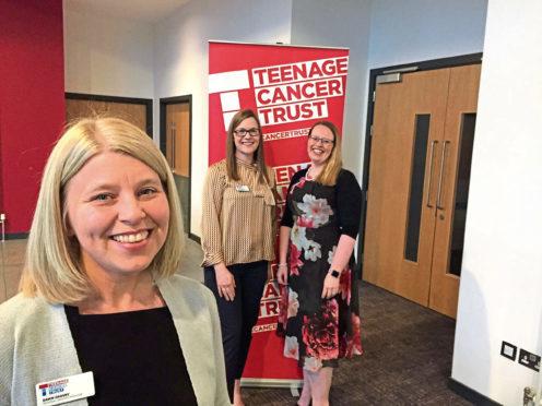 Dawn Crosby with nurses Amanda Copland and Diane Brands