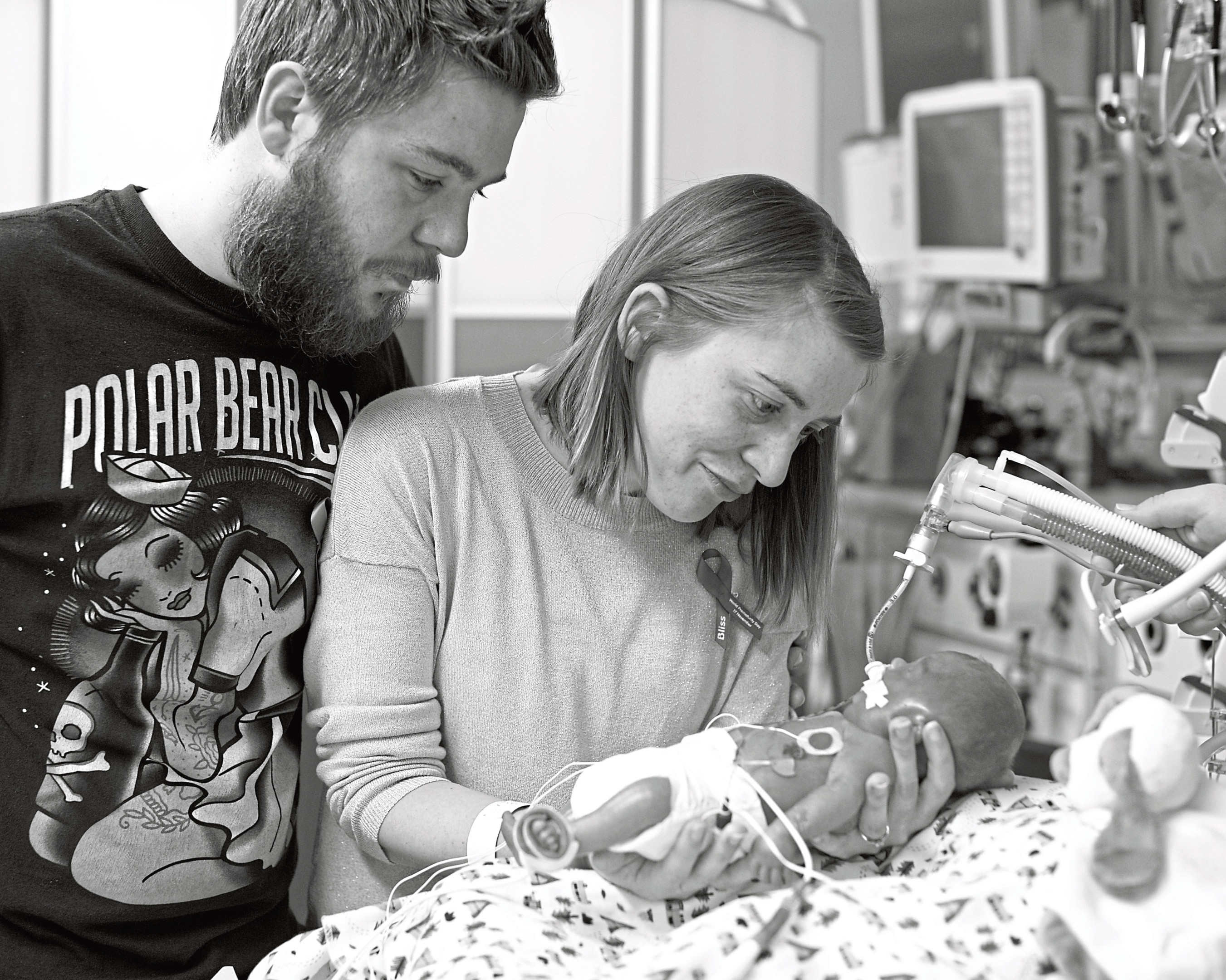 Kevin McDonald and his wife Rhiannon lost their son Harris when he was just seven days old