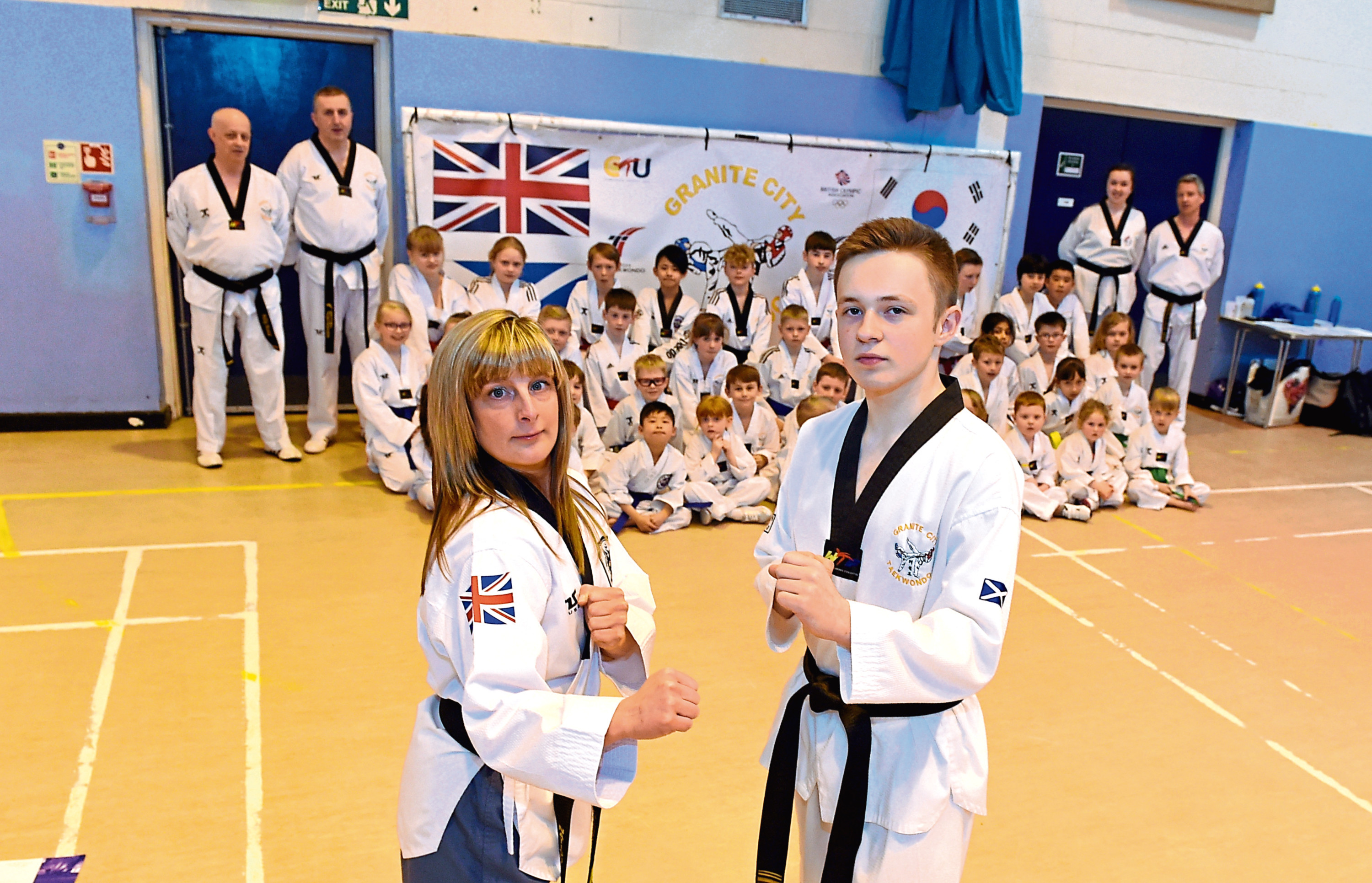 Granite City Taekwondo head instructor Lyndzie is the first woman in Scotland to receive sixth dan black belt.  Picture by Heather Fowlie