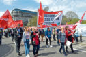 The May Day parade in Aberdeen where suspended Labour councillors took part