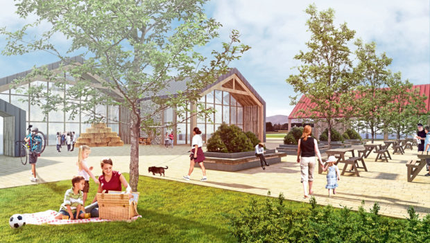 An artist's impression of how the development could look