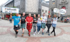 Some of the people taking part in this years Kiltwalk had a tarining walk around the city centre. Pictured from left are, Graeme Dorrance, Chris Harvey, Mike Gill, Laura Goodwon, Emma Moore, Scott Maxwell, Tracy Milne and Suzanne Morrison. Pic by Chris Sumner Taken 10/5/18