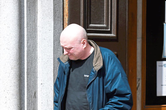 William Ross outside of Aberdeen Sheriff Court.