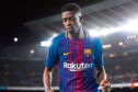 BARCELONA, SPAIN - APRIL 07: Ousmane Dembele of FC Barcelona looks on during the La Liga match between Barcelona and Leganes at Camp Nou on April 7, 2018 in Barcelona, Spain. (Photo by Alex Caparros/Getty Images)