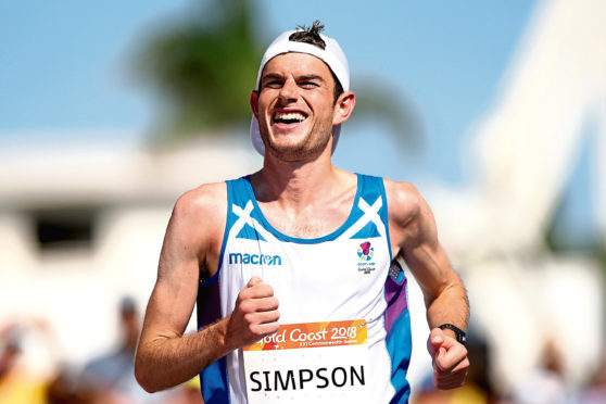 Robbie Simpson at the Commonwealth Games.