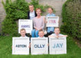 Artistic keepsakes made by June for her five grandchildren.
