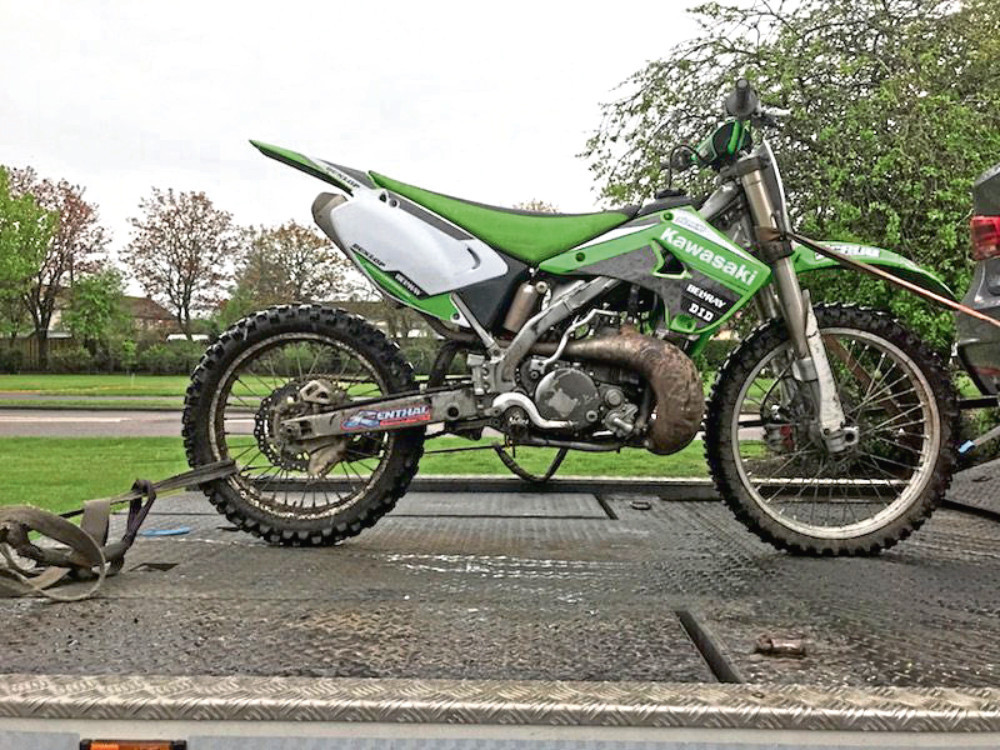 One of the bikes seized as part of Operation Armour