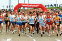 The runners on  the Boulevard at the Baker Hughes 10k road race at Aberdeen Beach in 2006