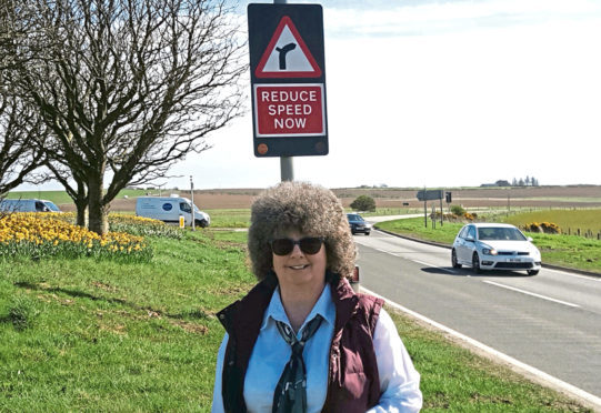 Gillian Owen was pleased to see the new lights at the Toll of Birness