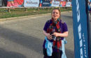 Laura Merchant during the Glasgow Kiltwalk.