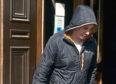 Justin Reid leaving Aberdeen Sheriff Court