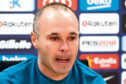 Andres Iniesta of FC Barcelona faces the media during a press conference at the Ciutat Deportiva Joan Gamper on April 27, 2018 in Barcelona, Spain. At the end of this season Andres Iniesta will leave the Catalan Club.