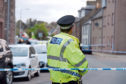 Police Scotland on the scene of the incident on High Street in Stonehaven.