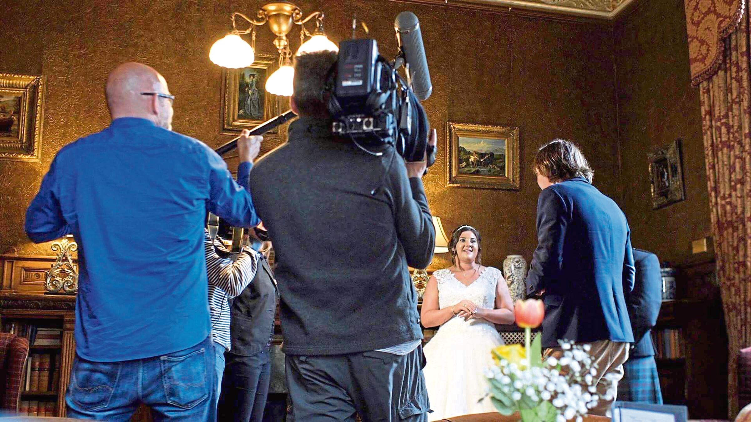 Danish film crew filmed a Scottish wedding in Aberdeen