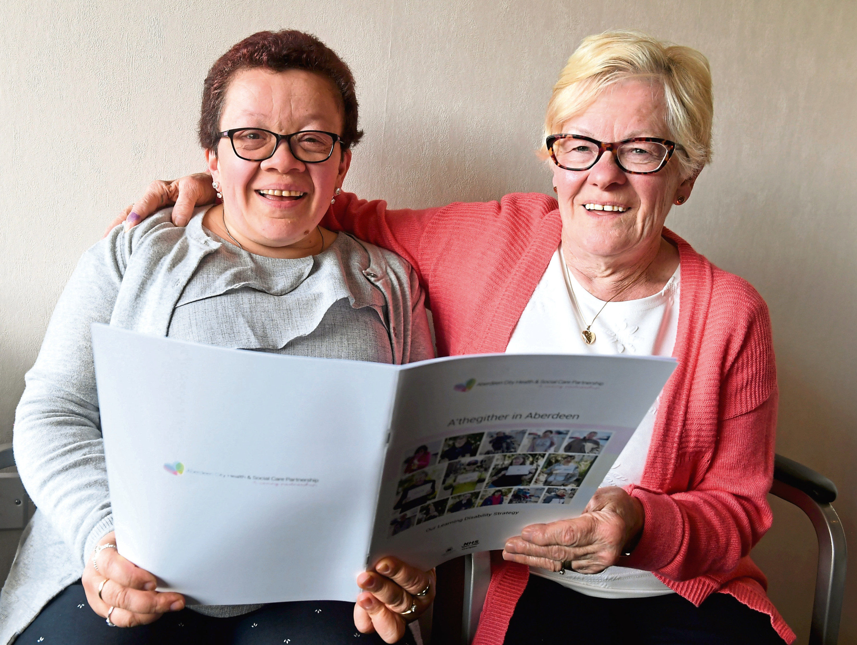 AHSCP released a new learning disability strategy. Susan Henderson and mum Ruby are delighted with the new service