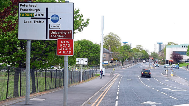 Traffic signs on St Machar Drive have been causing confusion.