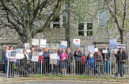 Torry residents make their feelings known about Victoria Road School in 2016