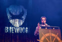 Pictured is founder Martin Dickie speaking at the Brewdog AGM held at the AECC