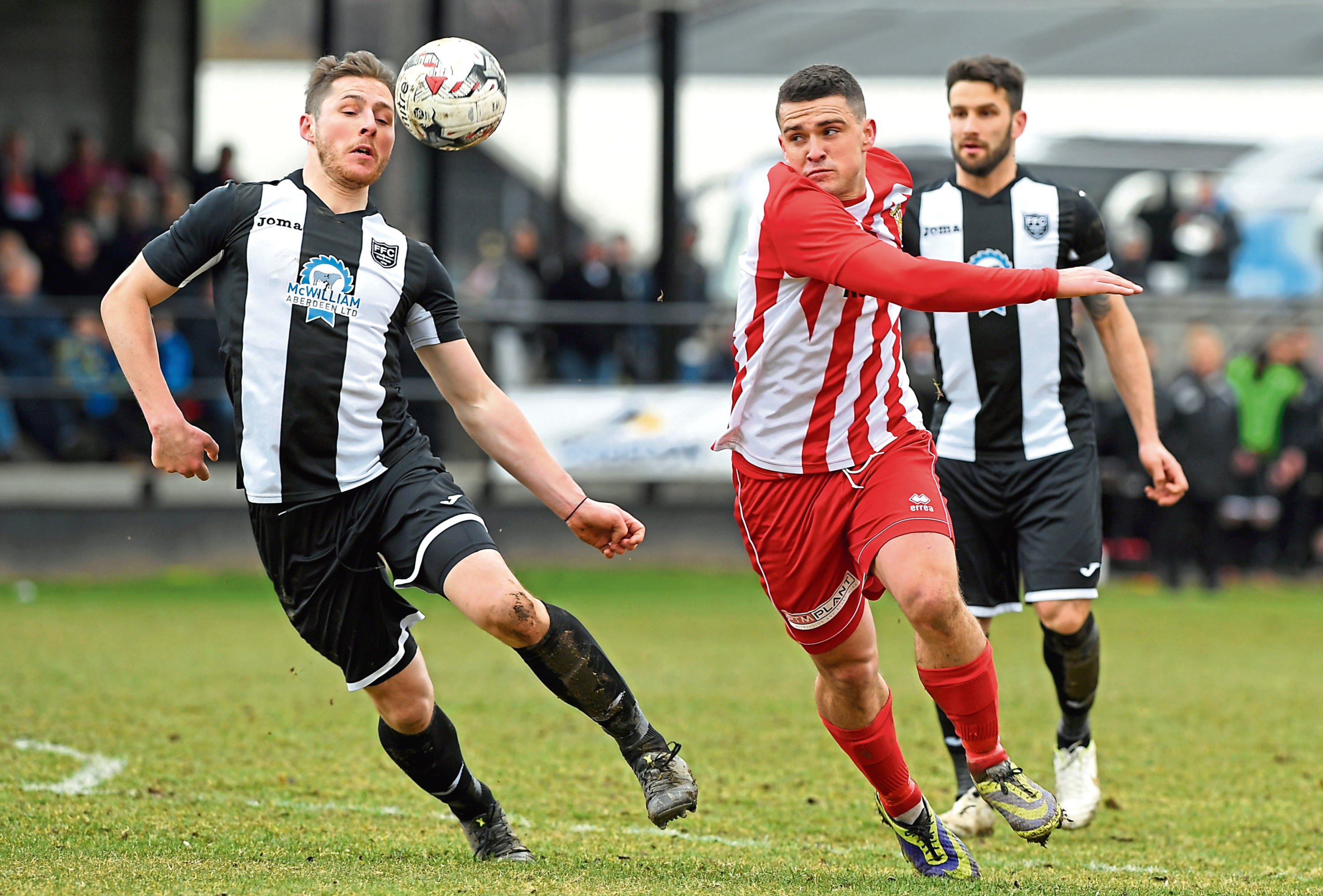 Scott Barbour, pictured in action for Formartine, has resigned for Fraserburgh.