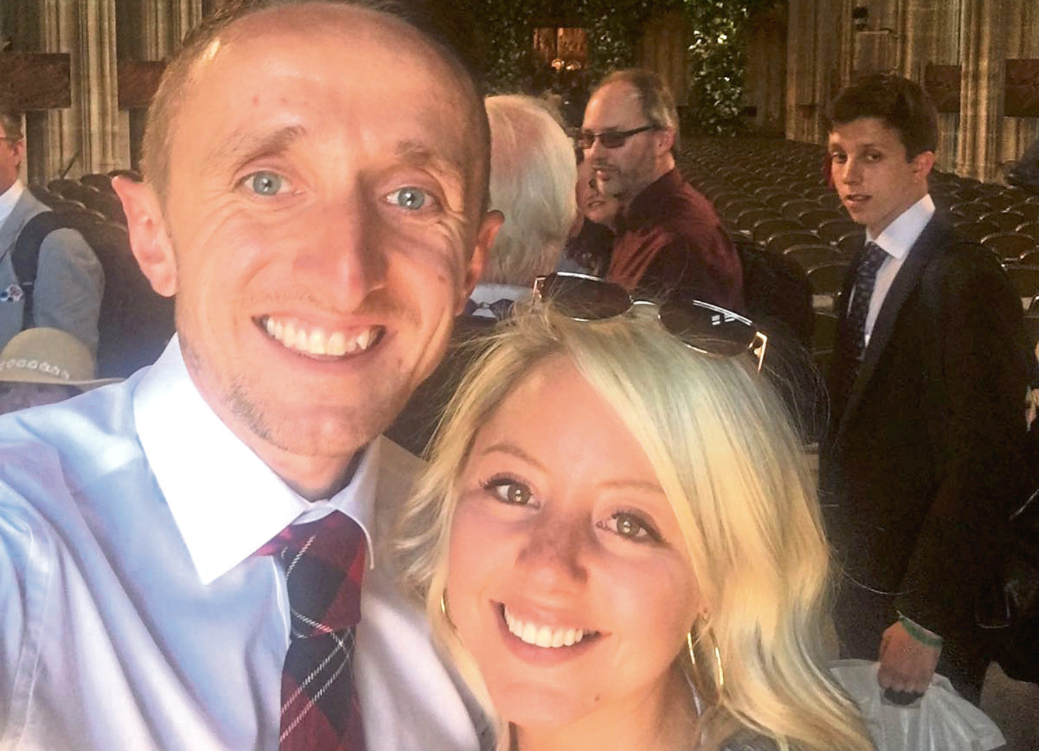 Myles Edwards and friend Steph Lloyd were at the Royal Wedding