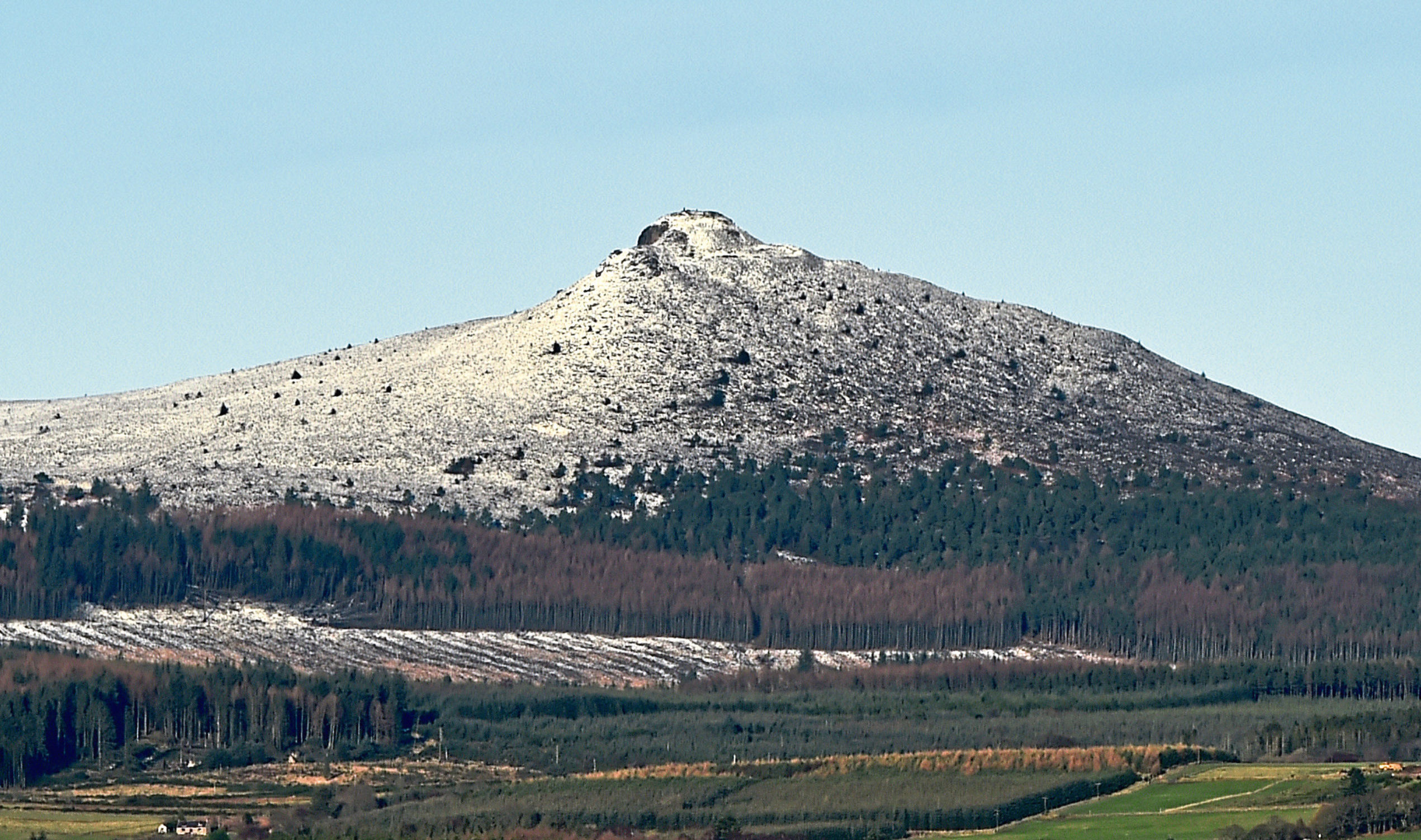 Bennachie is a popular spot for walkers.