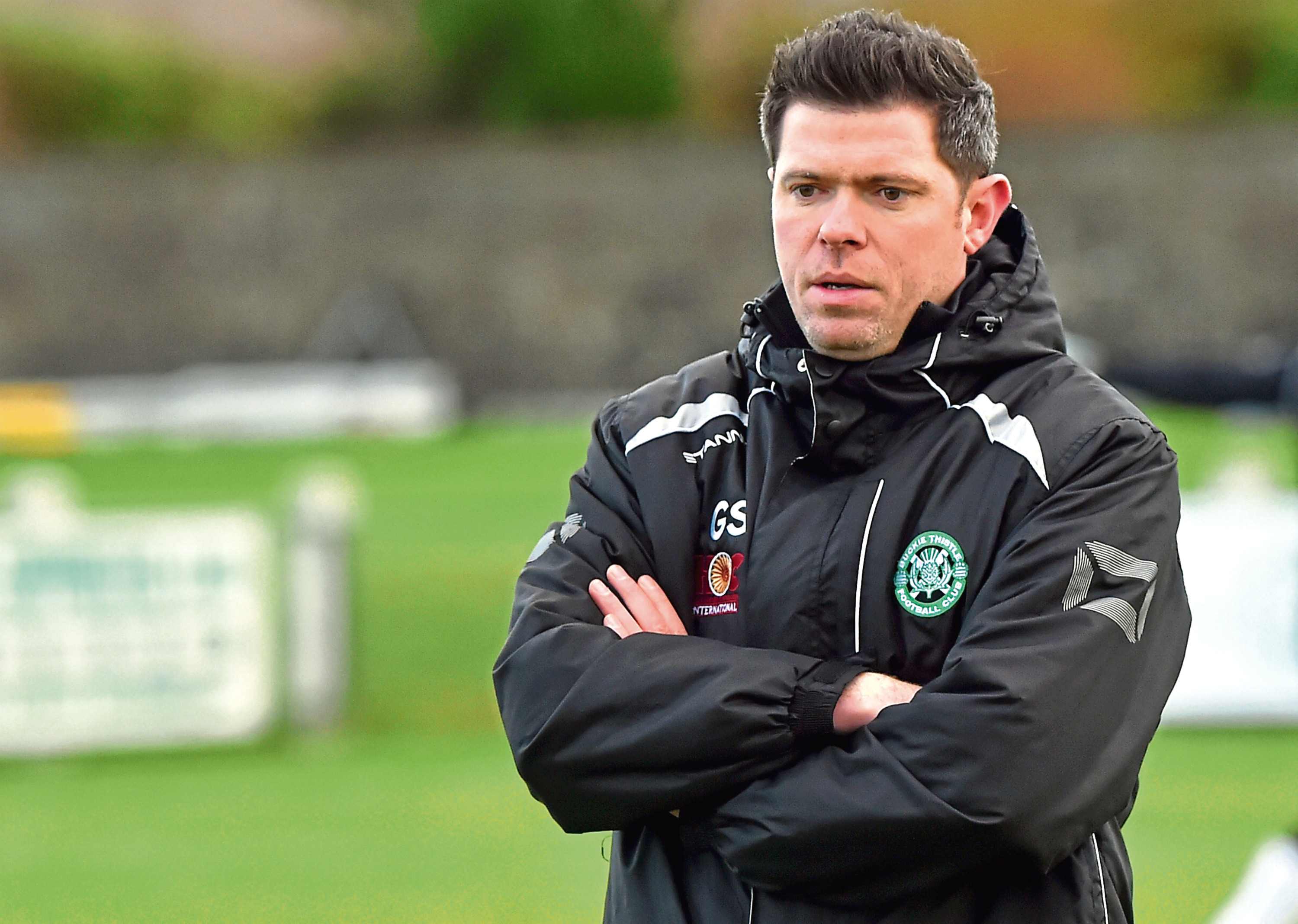 Picture of Buckie Thistle manager Graeme Stewart.  Picture by KENNY ELRICK     30/12/2017