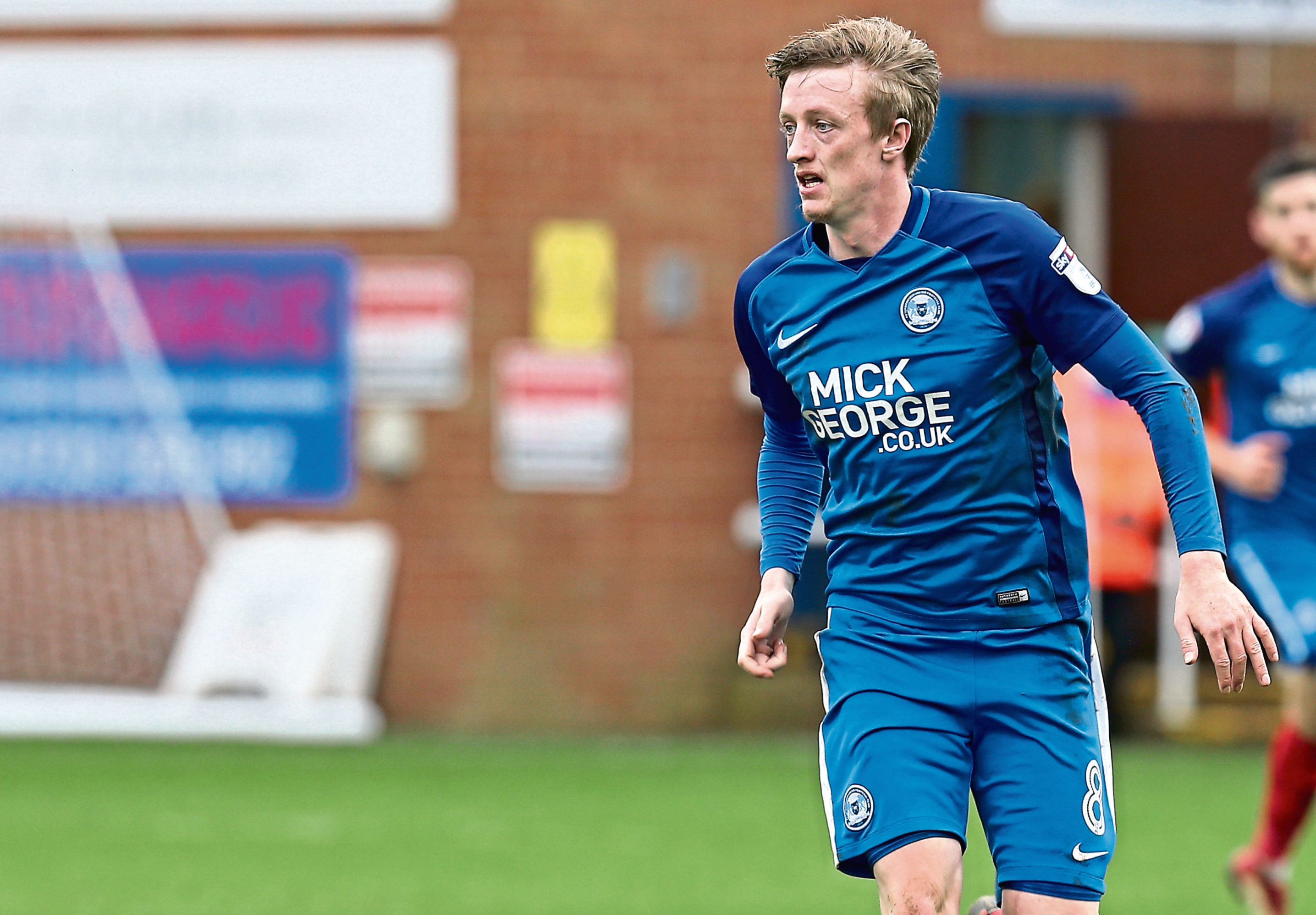 Chris Forrester of Peterborough United in action during the Sky Bet League One match between Peterborough United and Northampton Town at ABAX Stadium on April 2, 2018 in Peterborough, England.