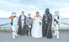 Jo and Debbie Lockhart's Star Wars wedding.