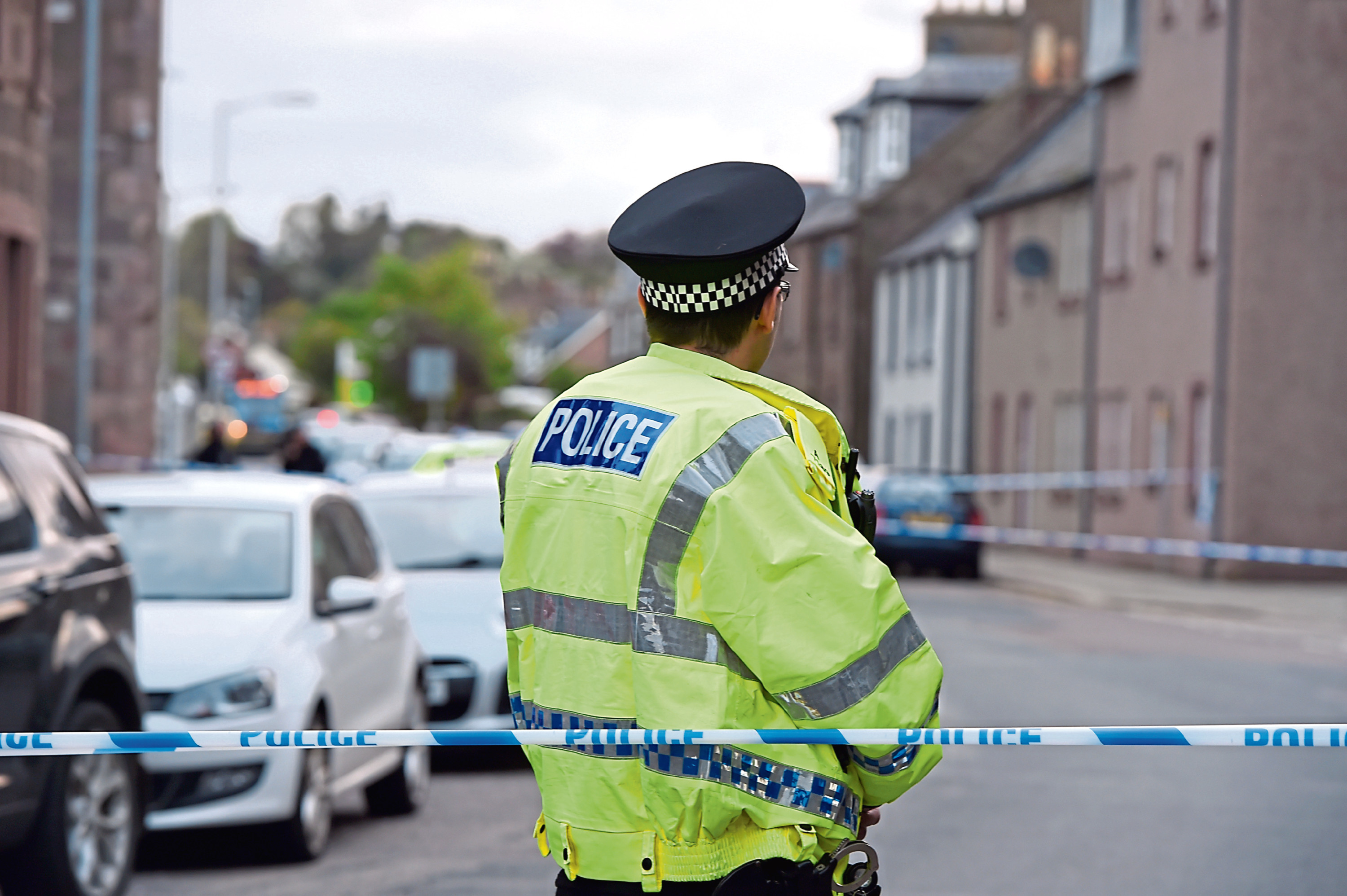 Police at High Street, Stonehaven