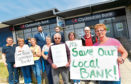 Protesters outside the Clydesdale branch in Mastrick
