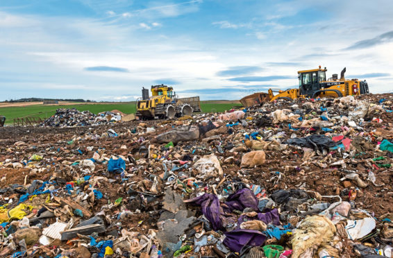 Stoneyhill Landfill site near Peterhead, which is where landfill waste from homes in Aberdeenshire goes.