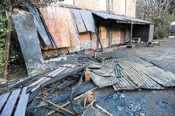 Grandholm Bowling Club has been repeatedly targeted by fireraisers in the past