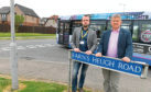 Councillors Stephen Flynn, left, and Alex Nicoll who are calling for a crossing to be put on Cove Road due to safety concerns with the new school