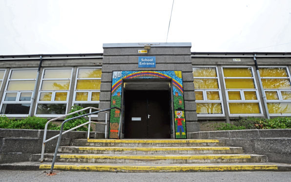 Vandals struck at Cornhill Primary School