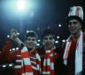 Aberdeen players Eric Black (left), John Hewitt and Neale Cooper (right) after the final whistle