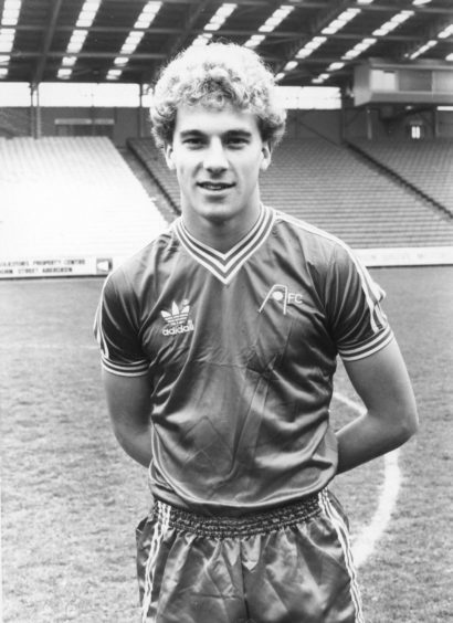 Neale Cooper, Aberdeen FC picture during the 1982 season.