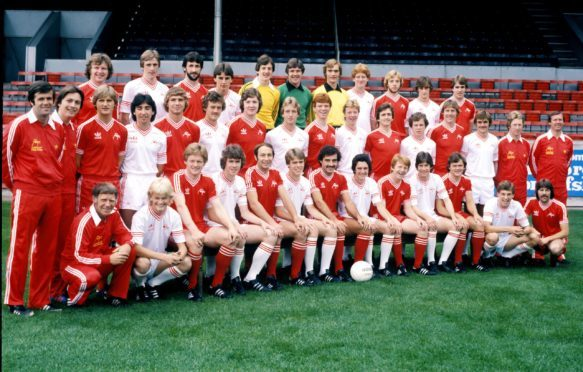 The Aberdeen squad, featuring both Joe Harper and Neale Cooper, pictured during the 1979/1980 season.