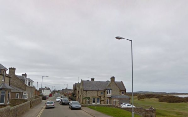 The incident happened on Stotfield Road in Lossiemouth