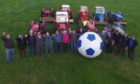 The new sport of Vintage tractor football is being played at Fettercairn show this July.
