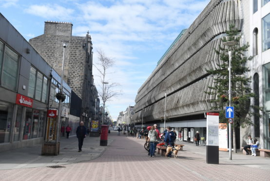 The market will be held between the Bon Accord Centre and John Lewis.