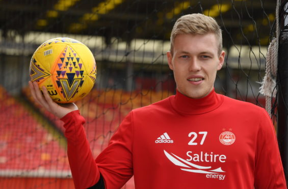 Aberdeen FC's Sam Cosgrove.  Picture by Chris Sumner