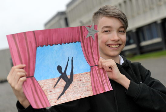 Dyce Academy pupil Josh McPherson's artwork is going to be showcased in the Scottish Parliament this June.
