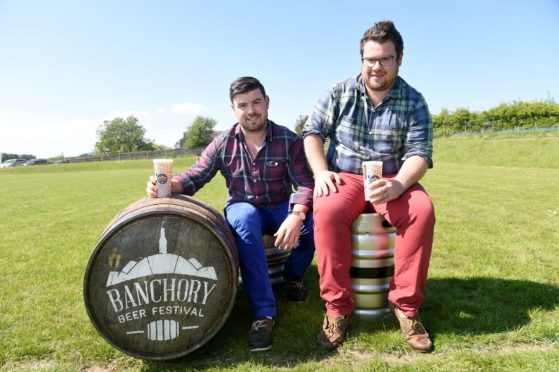 Banchory Beer Festival organisers Guy and Mungo Finlayson