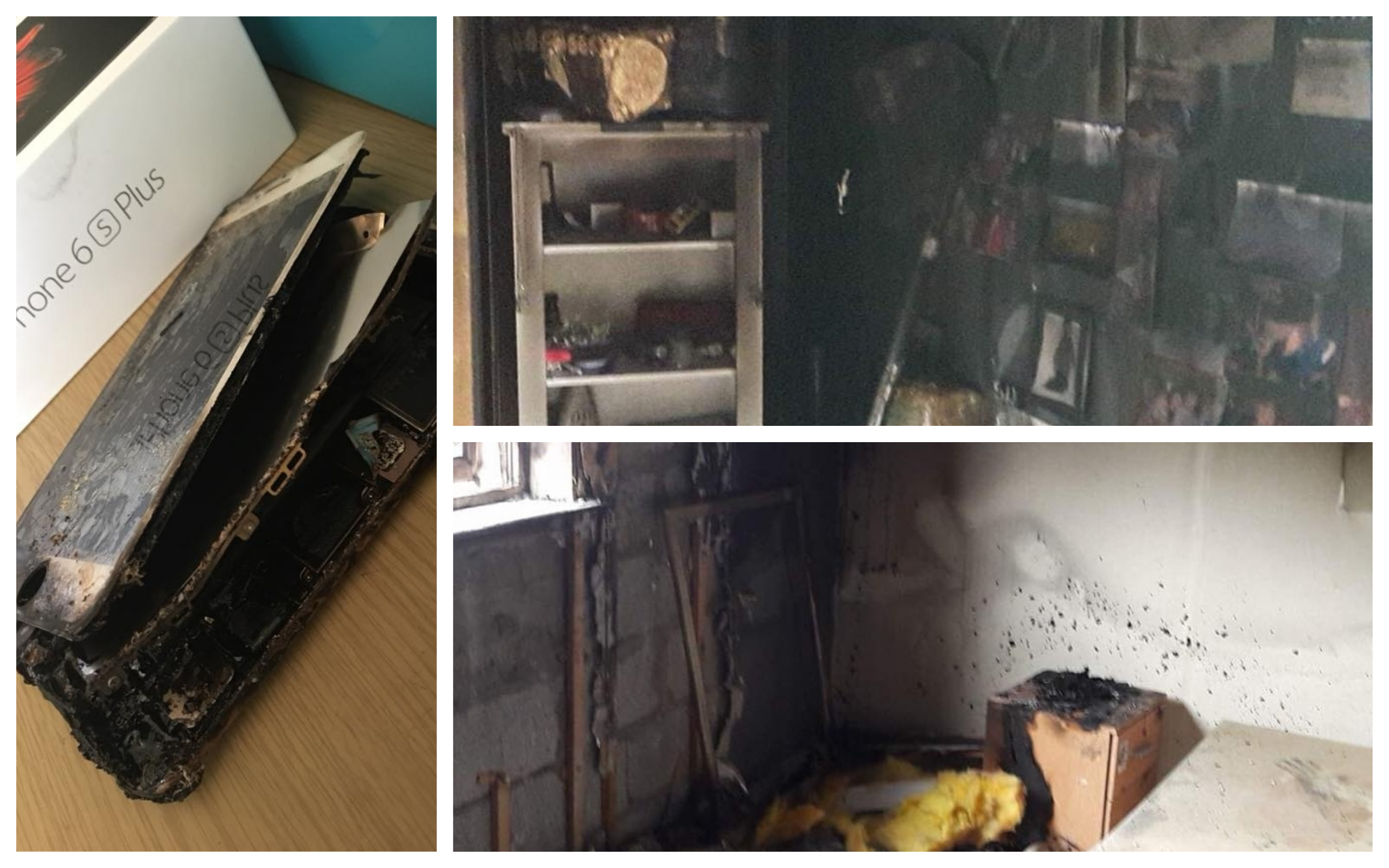 A fire started by an iPhone on charge caused Leah's bedroom to be destroyed.